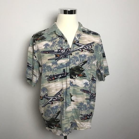 9584d543 Kalaheo Shirts | Vintage Hawaiian Shirt Wwii Bomber Planes | Poshmark